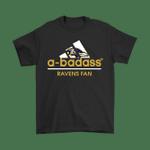 A-badass Baltimore Ravens Mashup Adidas NFL Shirts Adidas badass Baltimore Ravens football NFL Ravens T Shirt