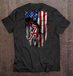 Alabama Crimson Tide Heartbeat American Flag Version Football T Shirt