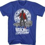 Marty McFly Delorean Clock Tower Back to the Future T-Shirt 80s Movie T Shirt