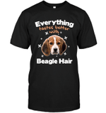 Everything Tastes Better With Beagle Hair T Shirts bestfunnystore.com T Shirt