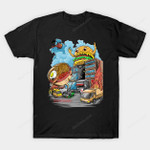 ramen vs hamburger T-Shirt hamburger Japanese kaiju Parody ramen T Shirt