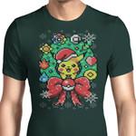 Merry Pika Christmas Graphic Arts T Shirt