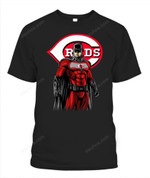 DC Batman Reds MLB Cincinnati Reds T Shirt