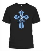 Rays Christian cross MLB Tampa Bay Rays T Shirt
