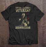 Why Did I Become A Veteran Because Football Baseball And Basketball Only Require One Ball Version2 BASKETBALL T Shirt