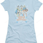 Junior Girls Do It Better DC Comics T-Shirt DC COMICS SHIRTS movie T Shirt