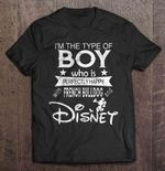 I'm The Type Of Boy Who Is Perfectly Happy With French Bulldog And Disney boy Disney French Bulldog Mickey Mouse perfectly happy T Shirt