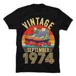 Roller Skates Vintage September 1974 45th Birthday Gag Gifts T-Shirt Birthday 45 gmc_created T Shirt