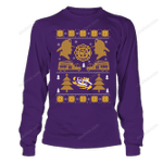 LSU Tigers - Christmas - Firefighter - Firefighter Ugly Sweater LSU Tigers T Shirt