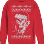 Star Wars Santa Hat Chewbacca SweaT Shirt 80s Movie T Shirt