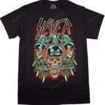 Skulls Slayer T-Shirt band music singer Slayer T-Shirts T Shirt