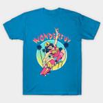 Wonderful T-Shirt DC Comics retro skateboarder Superhero Wonder Woman wonderful T Shirt