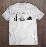 I'm A Simple Woman I Like Wine Coffee And Rams NFL T Shirt