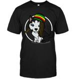 Reggae Shark Hairstyle Husky T Shirts bestfunnystore.com T Shirt