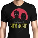 Adventures of Steve and Dustin Graphic Arts T Shirt
