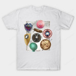 Escudos T-Shirt Captain America Legend of Zelda Marvel Comics Mashup Nintendo Shield Superhero Video Game T Shirt