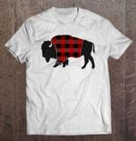 Red Plaid Bison Bison Red Plaid Bison T Shirt