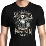 Skellington's Pumpkin Ale Graphic Arts T Shirt