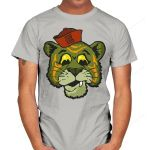 Eternia Scaredy Cats T-Shirt Battle Cat Cartoon Masters of the Universe Parody TV T Shirt