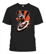 Superhero Captain American Bengals NFL Cincinnati Bengals T Shirt