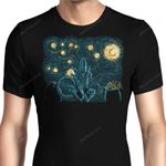 Starry Xenomorph Graphic Arts T Shirt