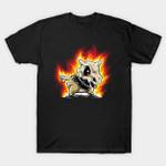 Cubone on fire T-Shirt Anime Cubone Ghost Rider Nintendo Parody Pokemon Video Game T Shirt
