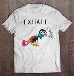 Exhale Farting Hei Hei Version chicken Disney EXHALE fart Hei Hei Moana T Shirt