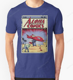 Issue #626 T-Shirt Action Comics Comic Book Disney Lilo Andamp; Stitch Lilo and Stitch movie Parody Stitch Superman T Shirt