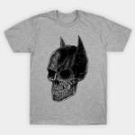 Dead Bat T-Shirt Batman Bruce Wayne DC Comics Parody skull Superhero T Shirt