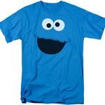 Cookie Monster Face Sesame Street T-Shirt 80S TV T Shirt