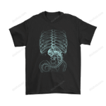 Alien Baby Body X-Ray Vision Shirts Alien Horror T Shirt