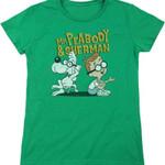 Womens Green Mr. Peabody and Sherman Shirt 80S CARTOON T Shirt