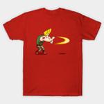 Sonic Bravo! T-Shirt Cartoon Guile Johnny Bravo Mashup Street Fighter TV Video Game T Shirt
