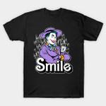 Heartthrob Smile T-Shirt Barbie Batman villain DC Comics Joker Parody smile Supervillain T Shirt