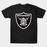 Odinson's Revengers T-Shirt logo Marvel Comics Oakland Raiders Parody Superhero Thor T Shirt