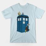 Boo Friggen Who T-Shirt Doctor Who Groot Guardians of the Galaxy Marvel Comics Mashup Rocket Raccoon Superhero TARDIS TV T Shirt