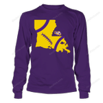 LSU Tigers - Football State Map LSU Tigers T Shirt