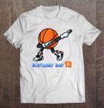 Birthday Boy 12 Dabbing Basketball Ball BASKETBALL T Shirt