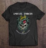 US Army Special Forces Motivated Dedicated Lethal Cat T Shirt