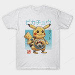 Pika Bot T-Shirt Anime Ash Ketchum Japanese Nintendo Parody Pikachu Pokemon robot Video Game T Shirt