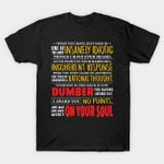 Insanely Idiotic T-Shirt Billy Madison movie Quote Text Typography T Shirt