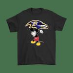 Dabbing Mickey Flippin' Love Baltimore Ravens Football Shirts Baltimore Ravens Dabbing Flippin' Love football Mickey Mickey Mouse NFL Ravens T Shirt