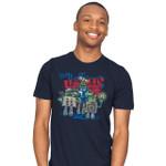 Blue Box Trolls Exclusive T-Shirt Dalek Doctor Who Mashup movie Parody TARDIS The Boxtrolls TV T Shirt