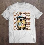 Coffee Funny Cat With Coffee Version Cat T Shirt