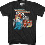 Black Retro Optimus Prime Transformers T-Shirt 80S CARTOON T Shirt