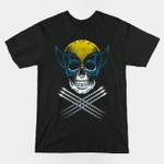 Mutant Pirate T-Shirt Logan Marvel Comics skull skull and crossbones Superhero The X-Men Wolverine T Shirt