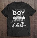 I'm The Type Of Boy Who Is Perfectly Happy With American Cocker Spaniel And Disney American Cocker Spaniel boy Disney Mickey Mouse perfectly happy T