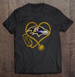 Baltimore Ravens Stethoscope NFL Football T Shirt