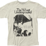 White Light White Heat Velvet Underground T-Shirt band music singer VELVET UNDERGROUND T-SHIRTS T Shirt