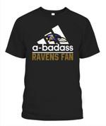 A badass Ravens fan NFL Baltimore Ravens T Shirt